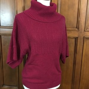 Caslon Womens Sz Sm Sweater Cowl Turtleneck Fitted